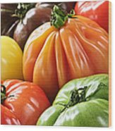 Heirloom Tomatoes Wood Print by Elena Elisseeva