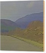 Highway Running Through The Wilderness Of The Scottish Highlands Wood Print