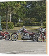 Hogs And Choppers Wood Print