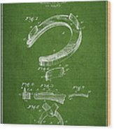 Horseshoe Patent Drawing From 1898 Wood Print