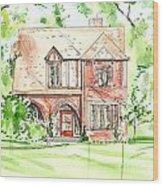 House Rendering Sample Wood Print