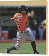 Houston Astros Vs. Oakland Athletics Wood Print