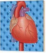 Human Heart Wood Print