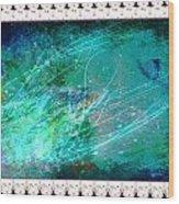 Impressionist Blue Wood Print