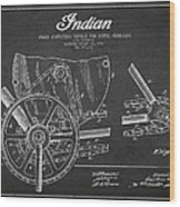 Indian Motorcycle Patent From 1902 Wood Print by Aged Pixel