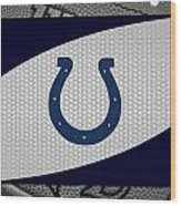 Indianapolis Colts Wood Print by Joe Hamilton