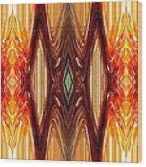 Intrepid Zigzags Wood Print