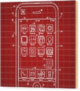 iPhone Patent - Red Wood Print