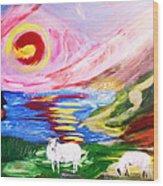 Irish Sunset Wood Print by Mounir Mounir