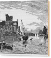 Isle Of Man Peel, 1885 Wood Print