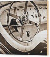 Jaguar Steering Wheel Wood Print