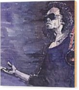 Jazz Miles Davis Wood Print