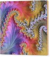 Julia Fractal Wood Print