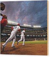 Kansas City Royals V Texas Rangers Wood Print