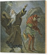 King Lear, 19th Century Wood Print
