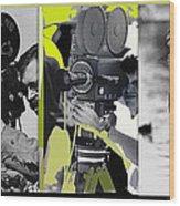 3 Kvoa Tv News Cinematographers Frank Sharkey Dave Sonderegger Jackie Sharkey Tucson Az Collage 2011 Wood Print
