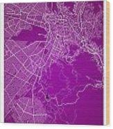 La Paz  Street Map - La Paz Bolivia Road Map Art On Colored Back Wood Print