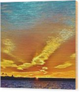 3 Layer Sunset Wood Print