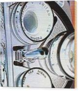 3 Lenses In Negative Wood Print