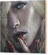 Lestat Licks Blood Wood Print