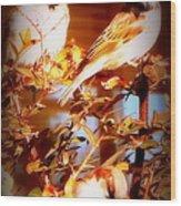 3 Lil Birdies Sittin In The Tree Wood Print