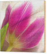 Linen Tulip Wood Print by Bobbi Feasel