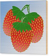 3 Little Berries Are We Wood Print by Andee Design