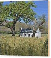 Little Farm House Wood Print