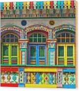 Little India - Singapore Wood Print