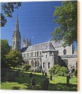 Llandaff Cathedral Wood Print