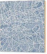 London England Street Map Wood Print