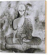 Lotus Position Wood Print