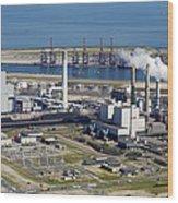 Maasvlakte, Europort, Rotterdam Wood Print