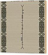 Macdowell Written In Ogham Wood Print