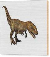 Majungasaurus Dinosaur Wood Print