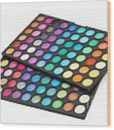 Makeup Color Palette Wood Print