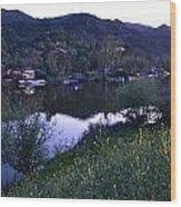 Malibu Lake Wood Print