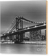 Manhattan Bridge New York City Wood Print