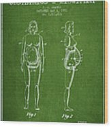 Manikin For Teaching Obstetrics And Midwifery Patent From 1951 - Wood Print