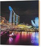 Marina  Bay Sands - Singapore Wood Print