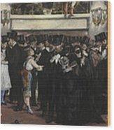 Masked Ball At The Opera Wood Print