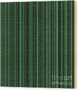 Matrix Green Wood Print