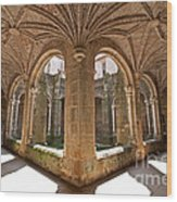 Medieval Monastery Cloister Wood Print