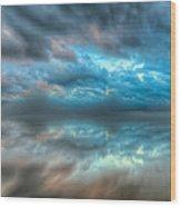 Melvin Bay Fog Wood Print