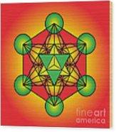Metatron's Cube With Merkaba Wood Print