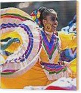 Mexican Folk Dancers Wood Print