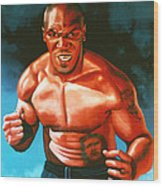 Mike Tyson Wood Print