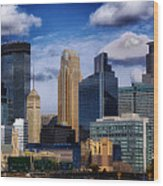Minneapolis Skyline Wood Print