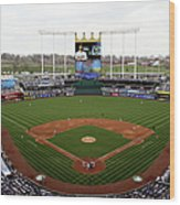 Minnesota Twins V Kansas City Royals Wood Print
