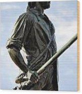 Minute Man Statue Concord Massachusetts Wood Print